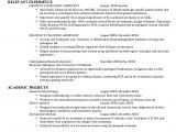 Sample Resume for Microbiologist Microbiology Graduate Resume Samples Http