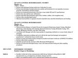 Sample Resume for Microbiologist Quality Control Microbiologist Resume Samples Velvet Jobs