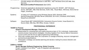 Sample Resume for Net Developer with 2 Year Experience Net Developer Resume 5 Years Sidemcicek Com