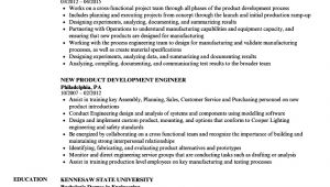 Sample Resume for New Product Development Engineer New Product Development Engineer Resume Samples Velvet Jobs