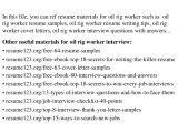 Sample Resume for Oil Field Worker top 8 Oil Rig Worker Resume Samples