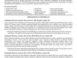 Sample Resume for orthopedic Surgeon Cv Examples Our 1 top Pick for orthopedic Physician