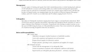 Sample Resume for orthopedic Surgeon orthopedics Resume
