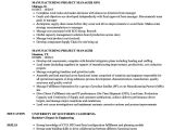 Sample Resume for Project Manager In Manufacturing Sample Resume Project Manager Manufacturing Images