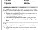 Sample Resume for Project Manager It software India Enterprise Risk Management Resume Goals and Objectives