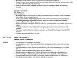 Sample Resume for Quality Analyst In Bpo Quality Analyst Resume Samples Velvet Jobs