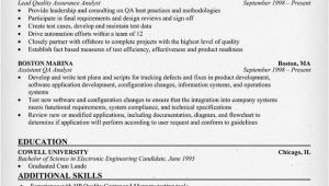 Sample Resume for Quality Analyst In Bpo Resume format Qa Analyst Resume Samples