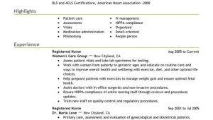 Sample Resume for Registered Nurse Position Unforgettable Registered Nurse Resume Examples to Stand