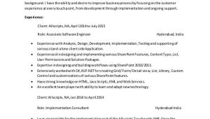 Sample Resume for Sharepoint Developer Sharepoint Developer Resume