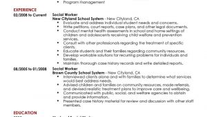 Sample Resume for social Worker Position Best social Worker Resume Example Livecareer