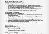 Sample Resume for software Engineer with One Year Experience software Engineer Resume Sample Writing Tips Resume