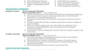 Sample Resume for Speech Language Pathologist Best Speech Language Pathologist Resume Example Livecareer