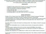 Sample Resume for Speech Language Pathologist Speech Language Pathology Resume Resume Ideas