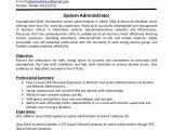 Sample Resume for System Administrator Fresher System Administrator Cv