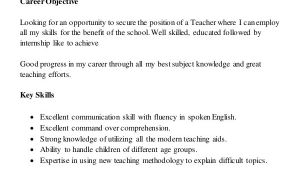 Sample Resume for Teaching Profession for Freshers 8 Teaching Fresher Resume Templates Pdf Doc Free