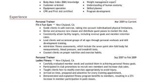 Sample Resume for Trainer Position Unforgettable Personal Trainer Resume Examples to Stand