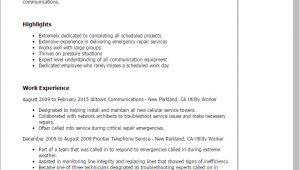 Sample Resume for Utility Worker Utility Worker Resume Template Best Design Tips