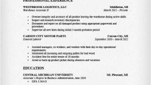 Sample Resume for Warehouse Worker Warehouse Worker Resume Sample Resume Genius