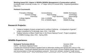 Sample Resume for Zoologist Zoology Resume Examples Examples Resume Resumeexamples