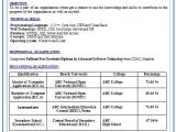 Sample Resume format for Freshers Curriculum Vitae Curriculum Vitae Resume Samples for Freshers