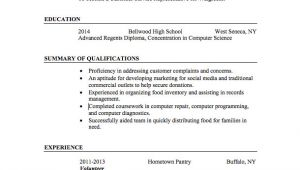 Sample Resume format for Job Application with No Experience 21 Basic Resumes Examples for Students Internships Com