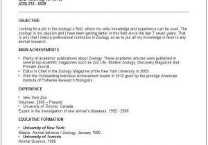 Sample Resume format for Zoology Freshers for Zoology Lecturer 3 Resume format Good Resume