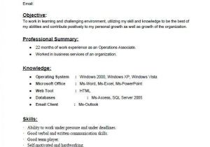 Sample Resume format for Zoology Freshers Gallery 1 Resume format for Backend Jobs Sample Resume