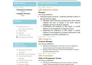 Sample Resume format Word Download Best Resume formats 40 Free Samples Examples format