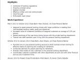 Sample Resume Of A Banker 1 Chase Personal Banker Resume Templates Try them now