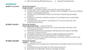 Sample Resume Of A Financial Analyst Best Financial Analyst Resume Example Livecareer