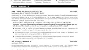 Sample Resume Of An Architect Architecture Model Galleries Architecture Resumes