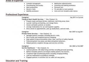 Sample Resume Of Caregiver for Elderly Caregiver Resume Examples Created by Pros Myperfectresume