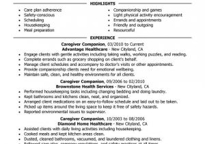 Sample Resume Of Caregiver for Elderly Caregivers Companions Resume Examples Created by Pros