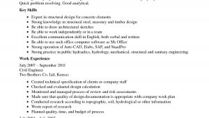 Sample Resume Of Civil Engineering Fresher Best Resume for Civil Engineer Fresher Resume Ideas