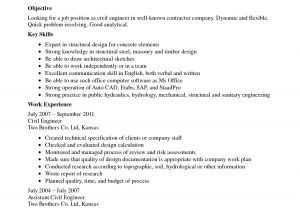 Sample Resume Of Civil Engineering Fresher Best Resume for Civil Engineer Fresher Resume Ideas