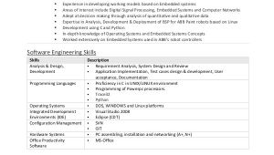 Sample Resume Of Experienced software Engineer software Engineer Resume Example 10 Free Word Pdf