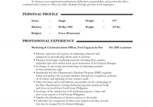 Sample Resume Of Teacher Applicant 12 Resume for Teacher Applicant Malawi Research