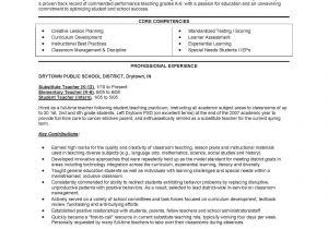 Sample Resume Of Teacher Applicant Impressive Resume for New Teacher Applicant for Resume