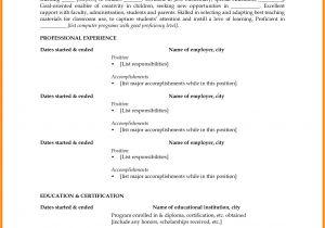 Sample Resume Of Teacher Applicant Resume for Elementary Teacher Applicant Bongdaao Com