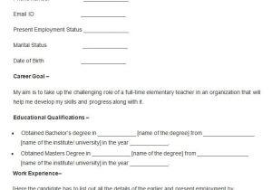 Sample Resume Of Teacher Applicant Sample Resume for Teacher Applicant Best Resume Collection