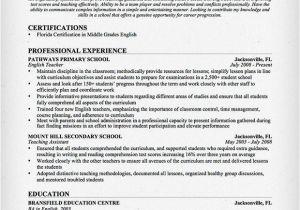 Sample Resume Of Teacher Applicant Sample Resume for Teacher Applicant Best Resume Gallery