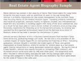 Sample Resume Real Estate Bio Examples Real Estate Agent Biography