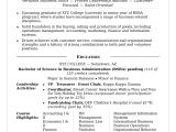 Sample Resume Skills for College Students College Resume Sample Monster Com