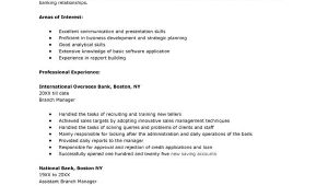Sample Resume to Apply for Bank Jobs Resume Samples for Banking Jobs Resume Sample