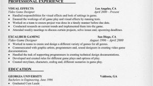 Sample Resume Video Video Game Designer Resume Sample Resumecompanion Com