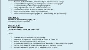 Sample Resume with Picture Photographer Resume Sample Sample Resumes