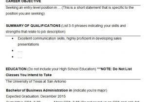 Sample Resumes for College Students 10 College Resume Template Sample Examples Free
