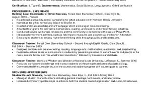 Sample Resumes for Experienced Teachers Elementary Teacher Resume Template 7 Free Word Pdf