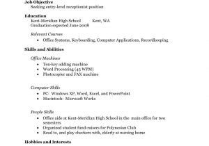 Sample Resumes for High School Students with No Work Experience Resume Examples for Highschool Students No Work Experience
