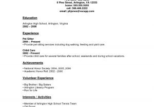Sample Resumes for High School Students with No Work Experience Resume for Highschool Students with No Experience Work